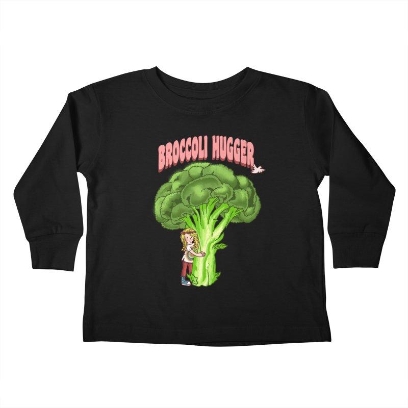 Broccoli Hugger Kids Toddler Longsleeve T-Shirt by kooky love's Artist Shop