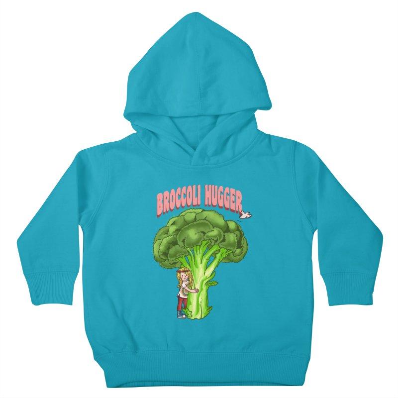 Broccoli Hugger Kids Toddler Pullover Hoody by kooky love's Artist Shop