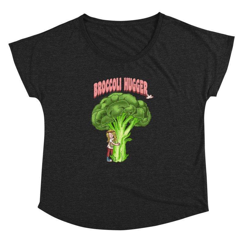 Broccoli Hugger Women's Dolman Scoop Neck by kooky love's Artist Shop