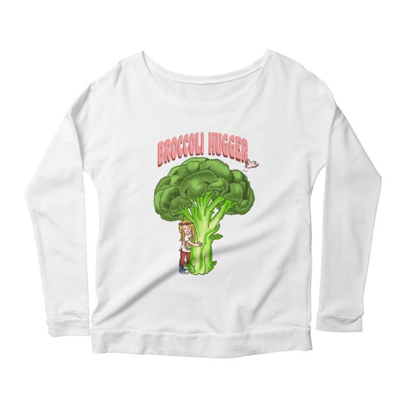 Broccoli Hugger Women's Scoop Neck Longsleeve T-Shirt by kooky love's Artist Shop