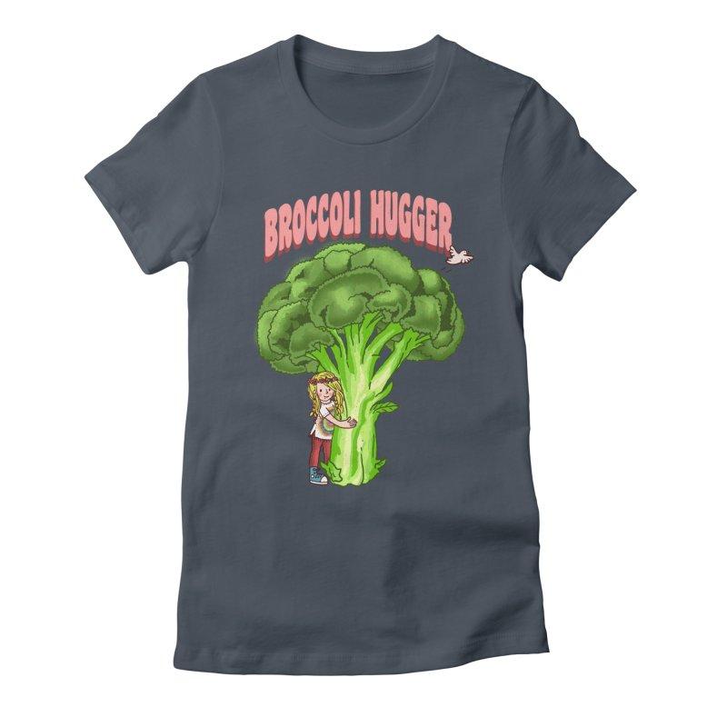 Broccoli Hugger Women's Fitted T-Shirt by kooky love's Artist Shop