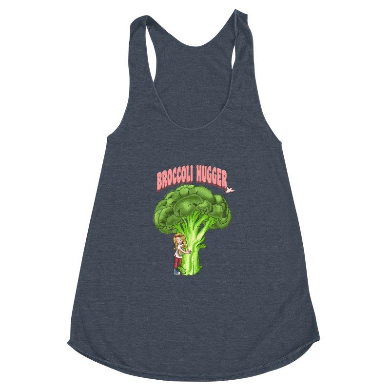 Broccoli Hugger Women's Racerback Triblend Tank by kooky love's Artist Shop