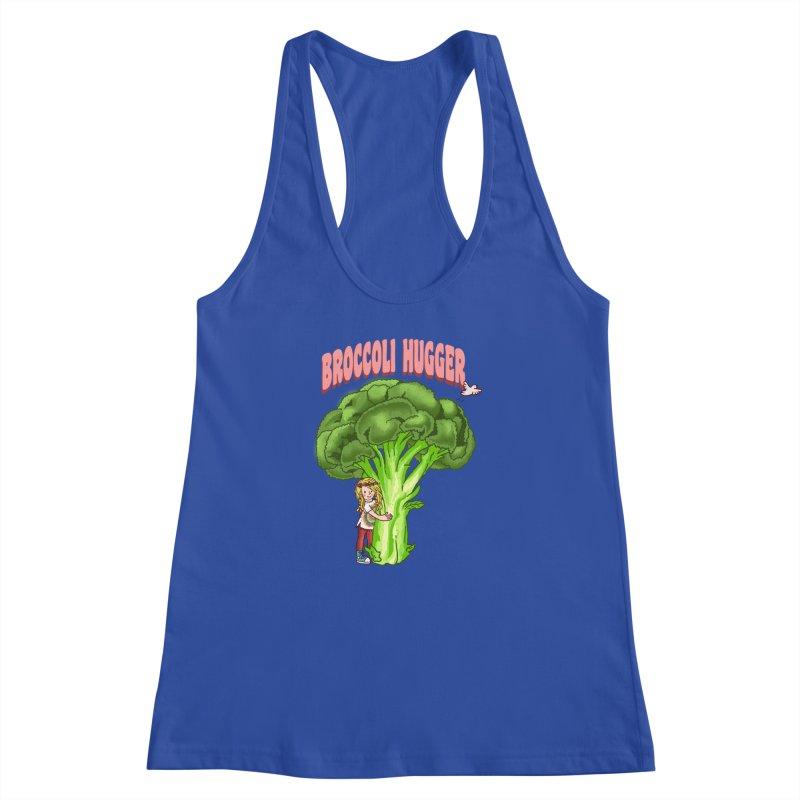 Broccoli Hugger Women's Racerback Tank by kooky love's Artist Shop