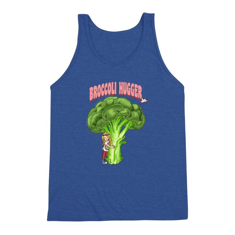 Broccoli Hugger Men's Triblend Tank by kooky love's Artist Shop