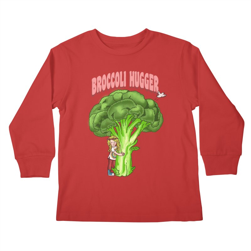 Broccoli Hugger Kids Longsleeve T-Shirt by kooky love's Artist Shop