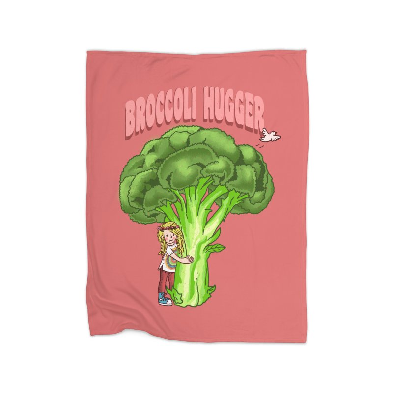Broccoli Hugger Home Fleece Blanket Blanket by kooky love's Artist Shop