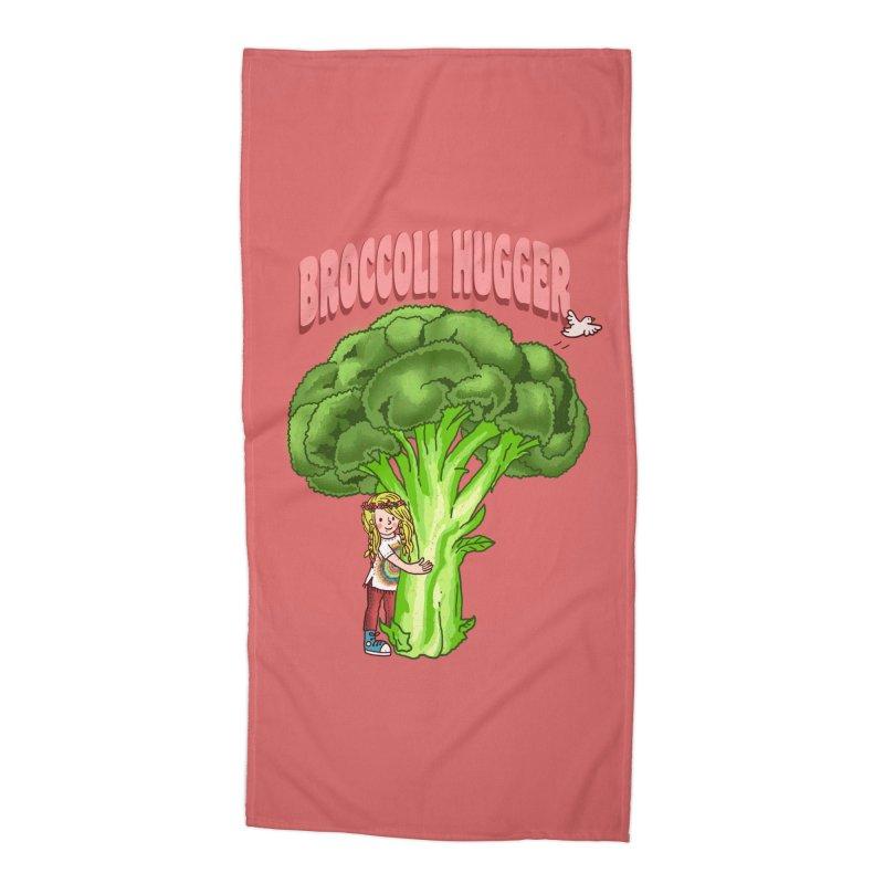 Broccoli Hugger Accessories Beach Towel by kooky love's Artist Shop