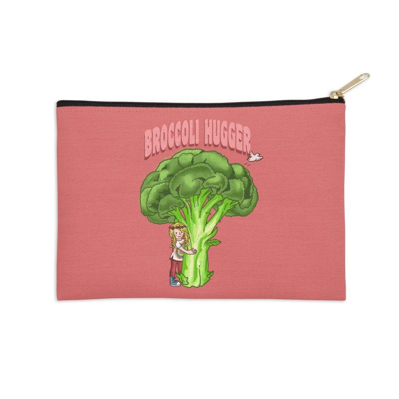 Broccoli Hugger Accessories Zip Pouch by kooky love's Artist Shop