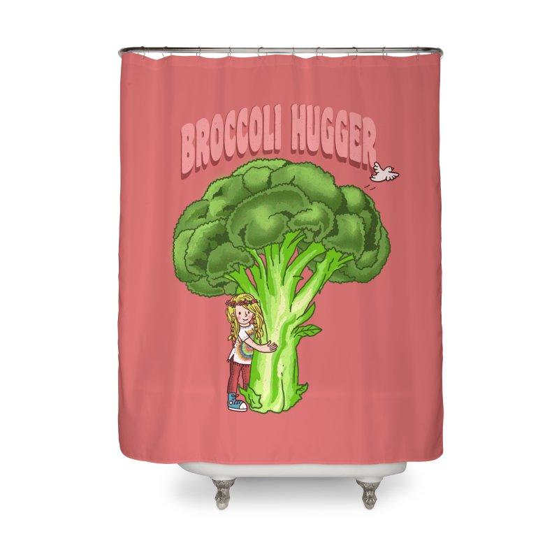 Broccoli Hugger Home Shower Curtain by kooky love's Artist Shop