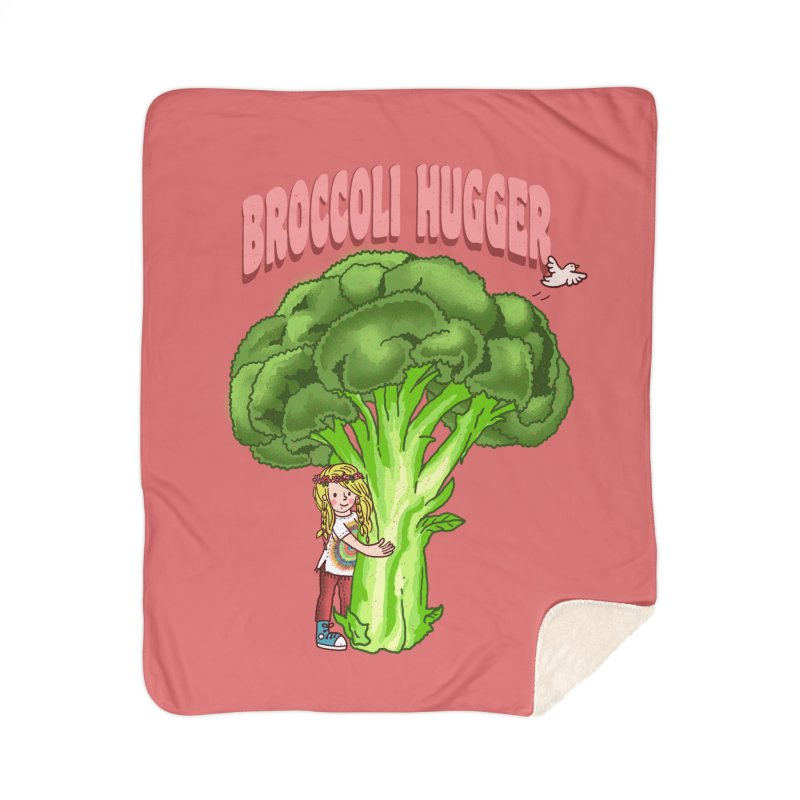 Broccoli Hugger Home Sherpa Blanket Blanket by kooky love's Artist Shop