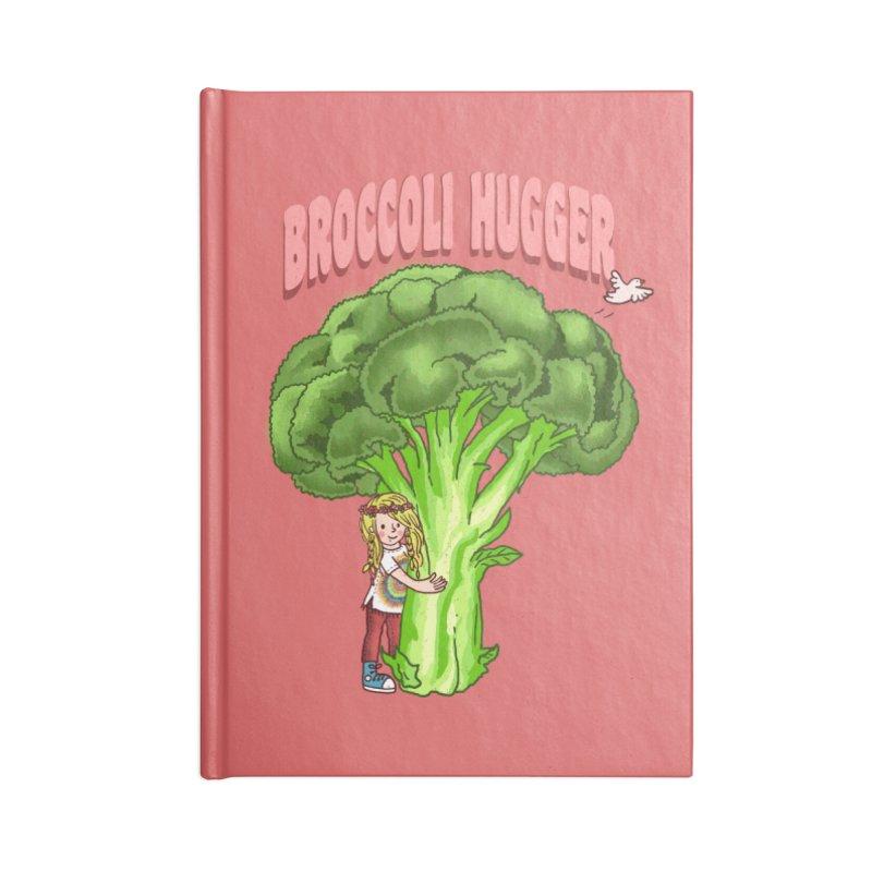 Broccoli Hugger Accessories Lined Journal Notebook by kooky love's Artist Shop