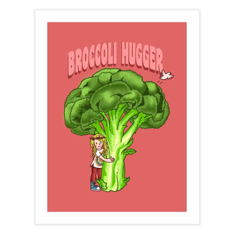 Broccoli Hugger Home Fine Art Print by kooky love's Artist Shop