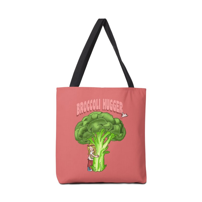 Broccoli Hugger Accessories Tote Bag Bag by kooky love's Artist Shop