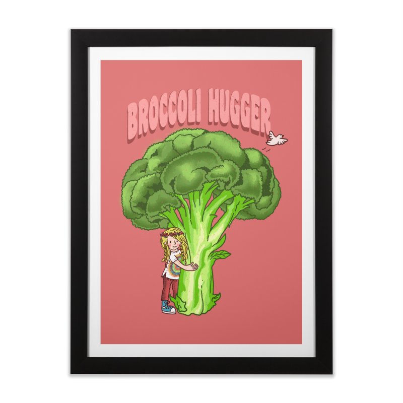 Broccoli Hugger Home Framed Fine Art Print by kooky love's Artist Shop