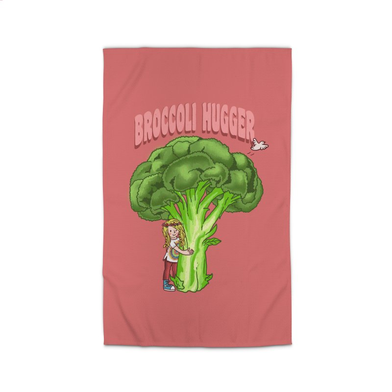 Broccoli Hugger Home Rug by kooky love's Artist Shop