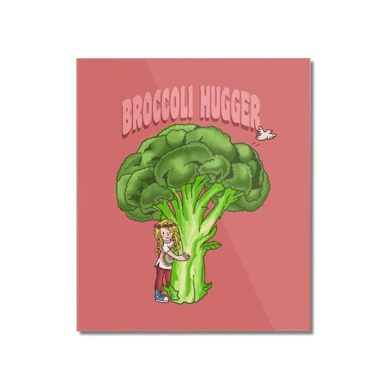 Broccoli Hugger Home Mounted Acrylic Print by kooky love's Artist Shop