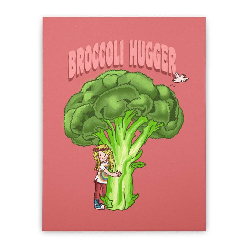 Broccoli Hugger Home Stretched Canvas by kooky love's Artist Shop