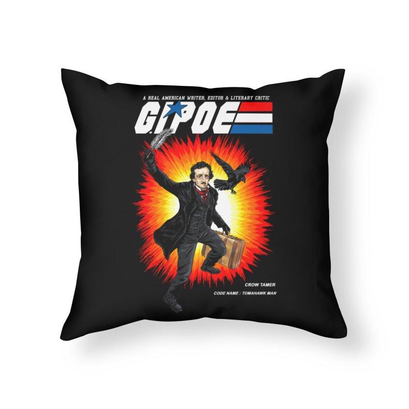 G.I. POE Home Throw Pillow by kooky love's Artist Shop