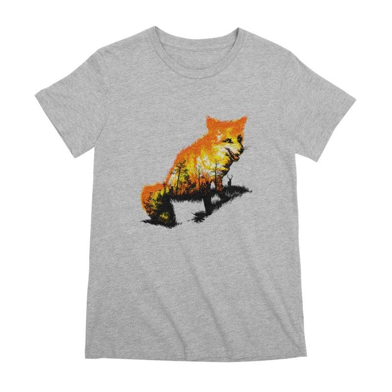 Fire Fox Women's Premium T-Shirt by kooky love's Artist Shop