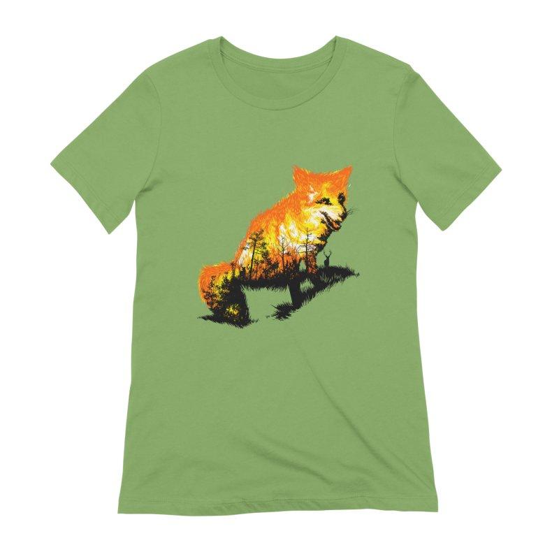 Fire Fox Women's Extra Soft T-Shirt by kooky love's Artist Shop