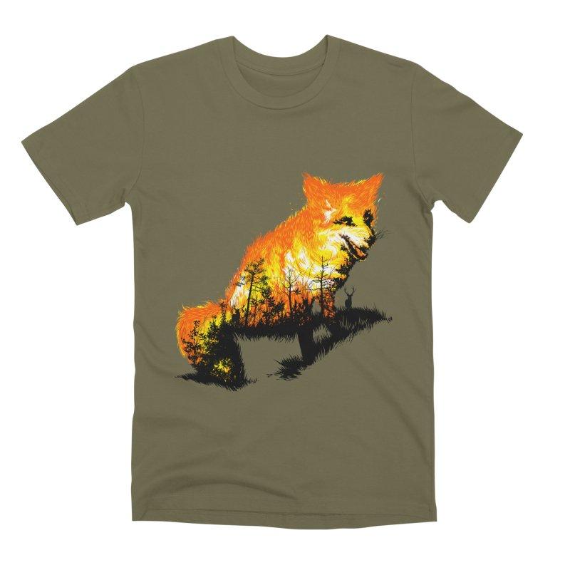 Fire Fox Men's Premium T-Shirt by kooky love's Artist Shop