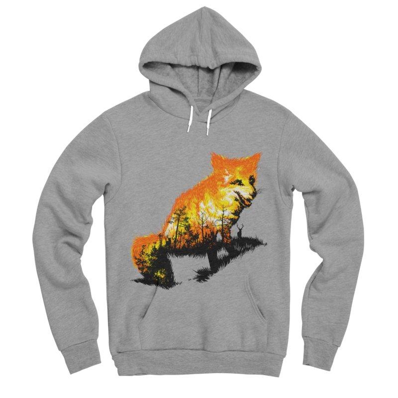 Fire Fox Men's Sponge Fleece Pullover Hoody by kooky love's Artist Shop