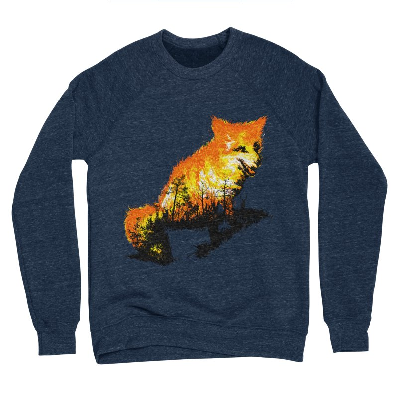 Fire Fox Men's Sponge Fleece Sweatshirt by kooky love's Artist Shop