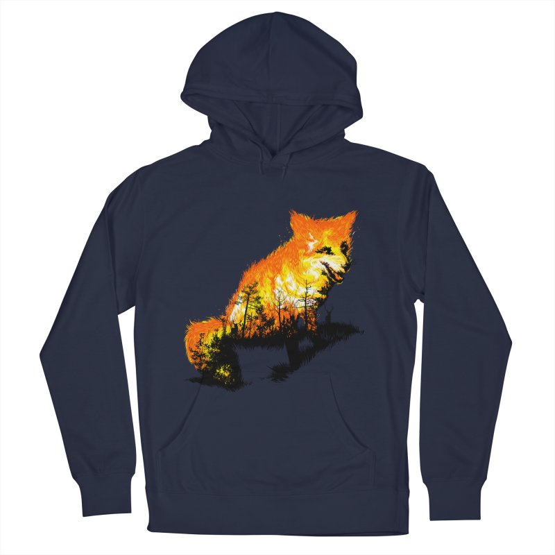 Fire Fox Women's French Terry Pullover Hoody by kooky love's Artist Shop