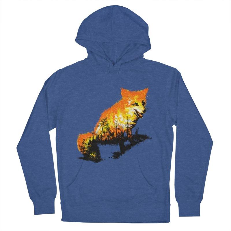 Fire Fox Men's French Terry Pullover Hoody by kooky love's Artist Shop