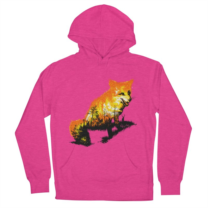 Fire Fox Men's French Terry Pullover Hoody by kooky love's Artist Shop