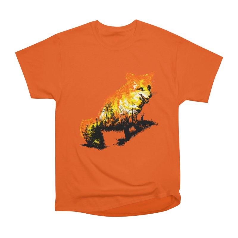 Fire Fox Women's Heavyweight Unisex T-Shirt by kooky love's Artist Shop