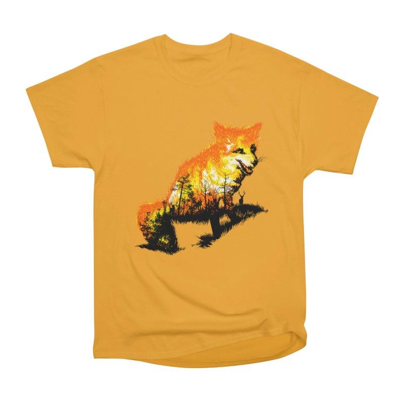 Fire Fox Men's Heavyweight T-Shirt by kooky love's Artist Shop