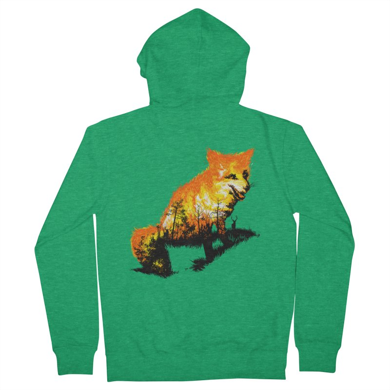 Fire Fox Women's Zip-Up Hoody by kooky love's Artist Shop