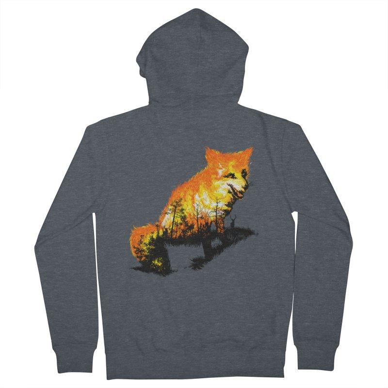 Fire Fox Women's Zip-Up Hoody by kooky love's Artist Shop