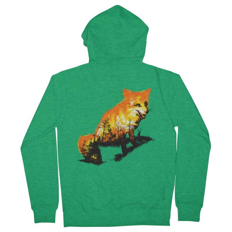 Fire Fox Men's Zip-Up Hoody by kooky love's Artist Shop