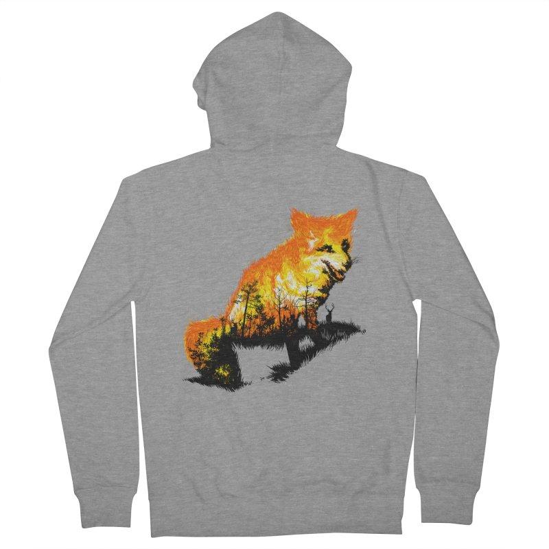 Fire Fox Men's French Terry Zip-Up Hoody by kooky love's Artist Shop