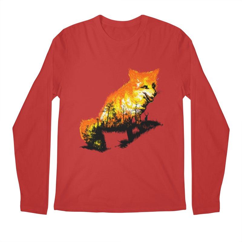 Fire Fox Men's Regular Longsleeve T-Shirt by kooky love's Artist Shop