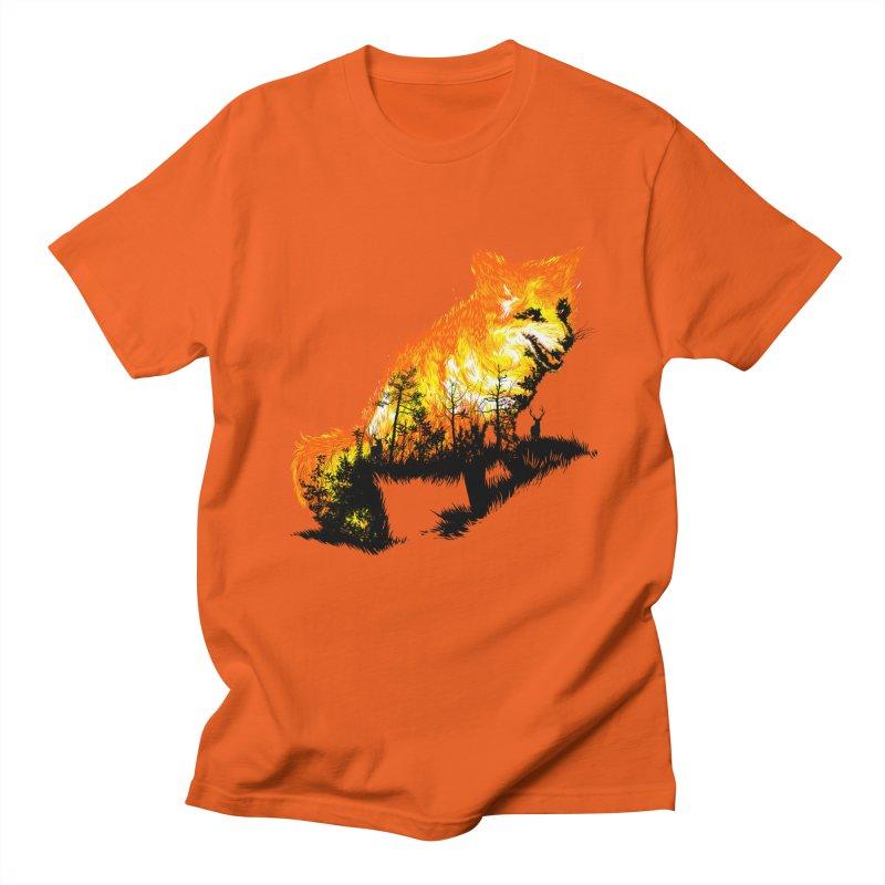 Fire Fox Men's Regular T-Shirt by kooky love's Artist Shop