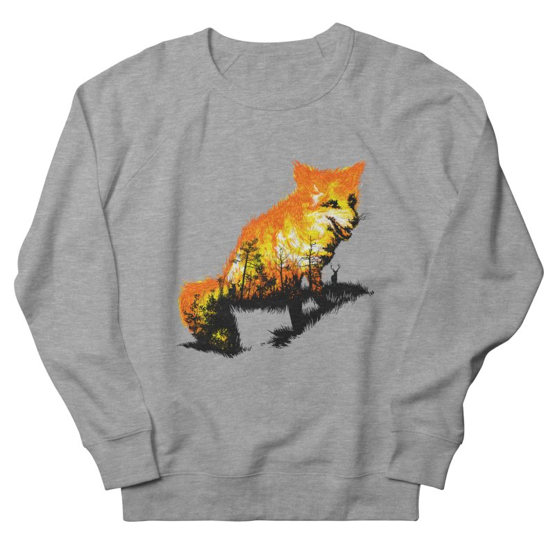 Fire Fox Women's French Terry Sweatshirt by kooky love's Artist Shop