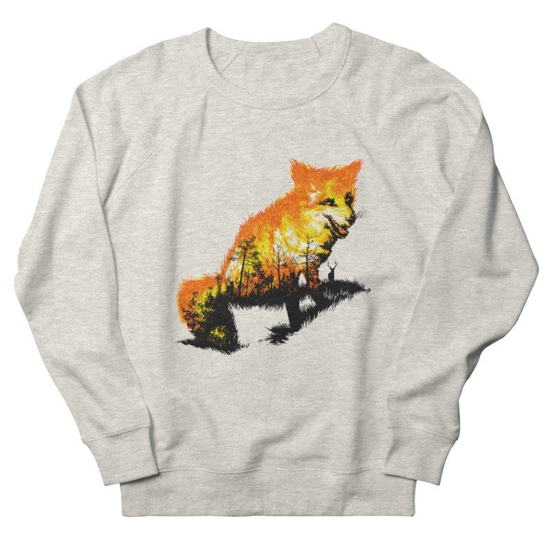 Fire Fox Women's French Terry Sweatshirt by kooky love's Artist Shop