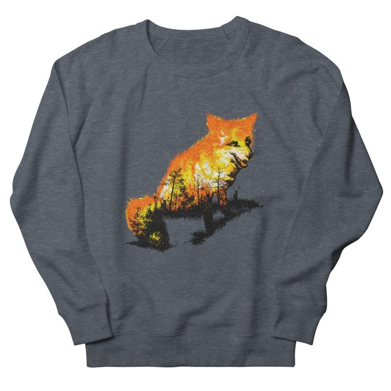 Fire Fox Men's French Terry Sweatshirt by kooky love's Artist Shop