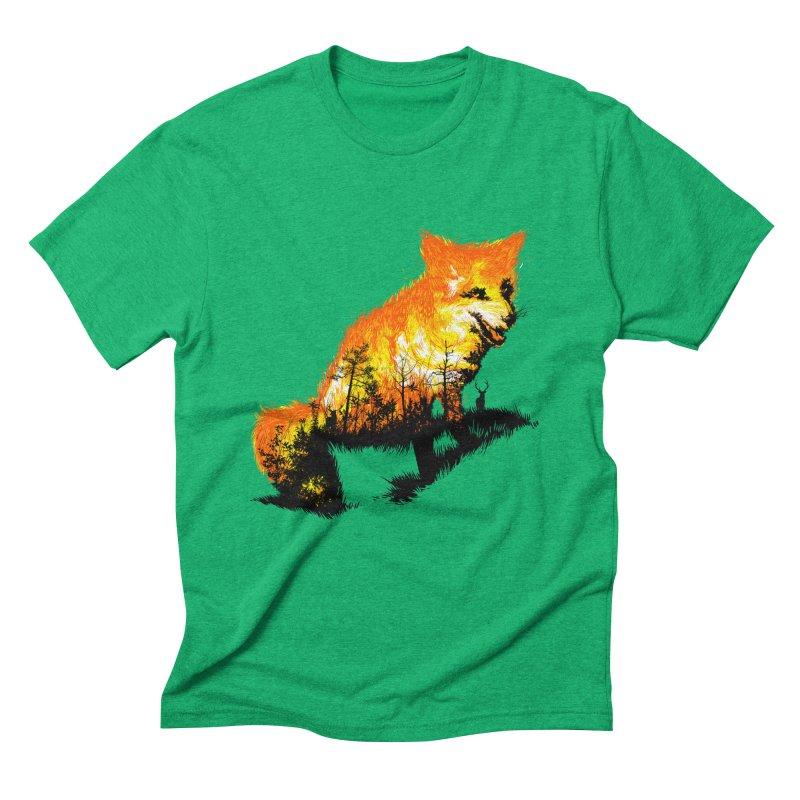 Fire Fox Men's Triblend T-Shirt by kooky love's Artist Shop