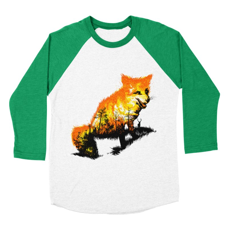 Fire Fox Women's Baseball Triblend Longsleeve T-Shirt by kooky love's Artist Shop