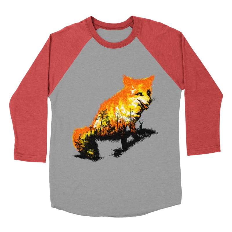 Fire Fox Women's Baseball Triblend Longsleeve T-Shirt by kooky love's Artist Shop