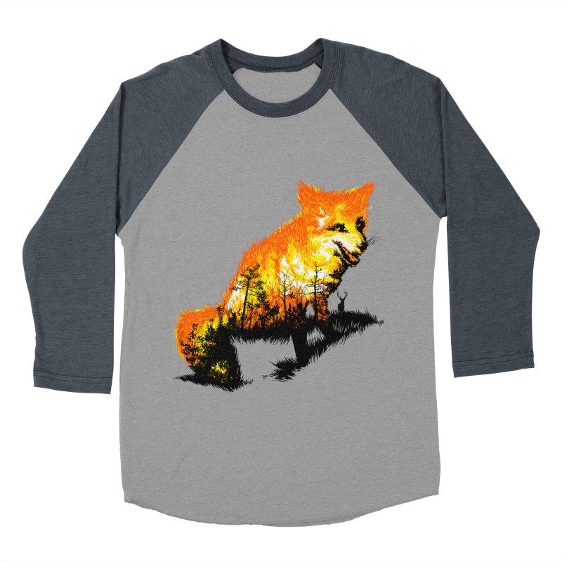 Fire Fox Men's Baseball Triblend Longsleeve T-Shirt by kooky love's Artist Shop