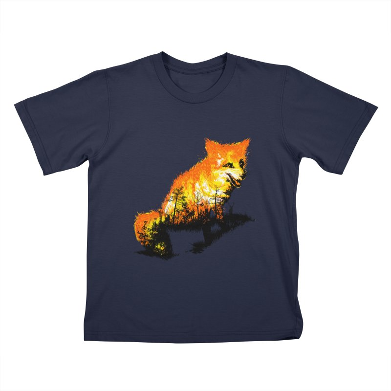 Fire Fox Kids T-Shirt by kooky love's Artist Shop