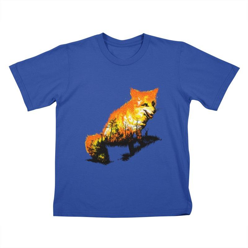 Fire Fox Kids T-Shirt by kooky love's Artist Shop