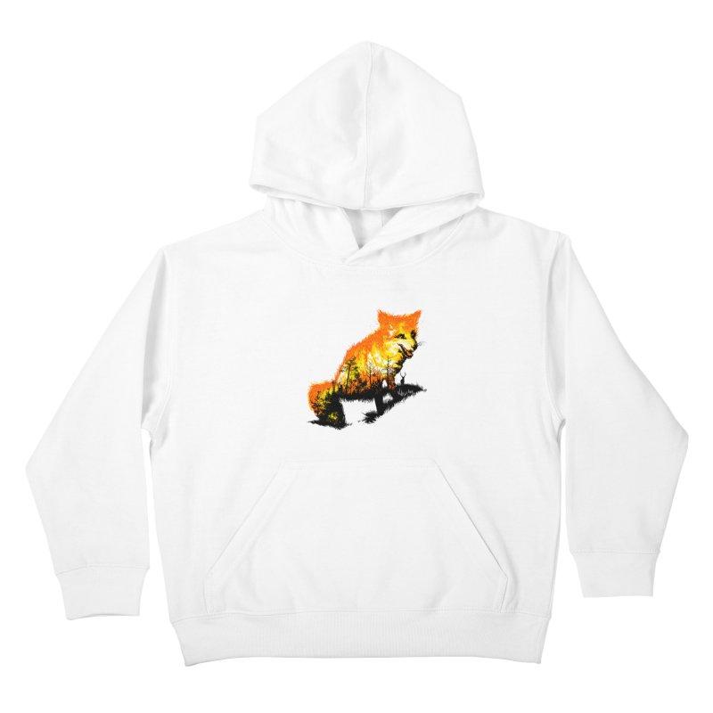 Fire Fox Kids Pullover Hoody by kooky love's Artist Shop