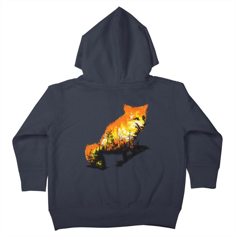 Fire Fox Kids Toddler Zip-Up Hoody by kooky love's Artist Shop