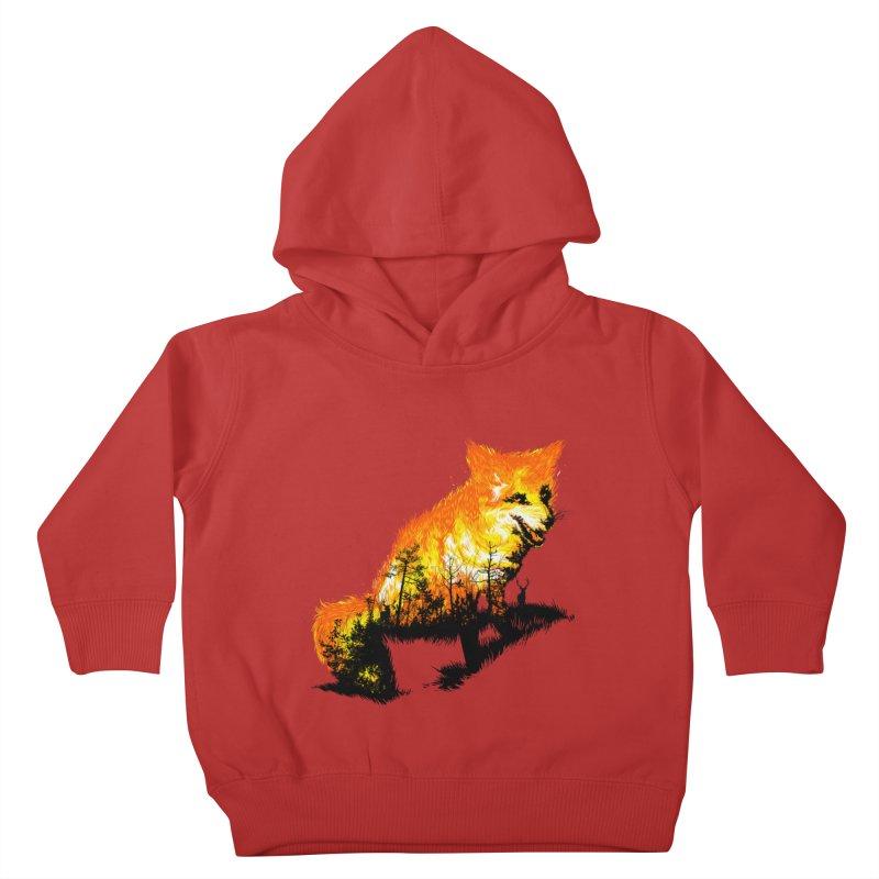 Fire Fox Kids Toddler Pullover Hoody by kooky love's Artist Shop